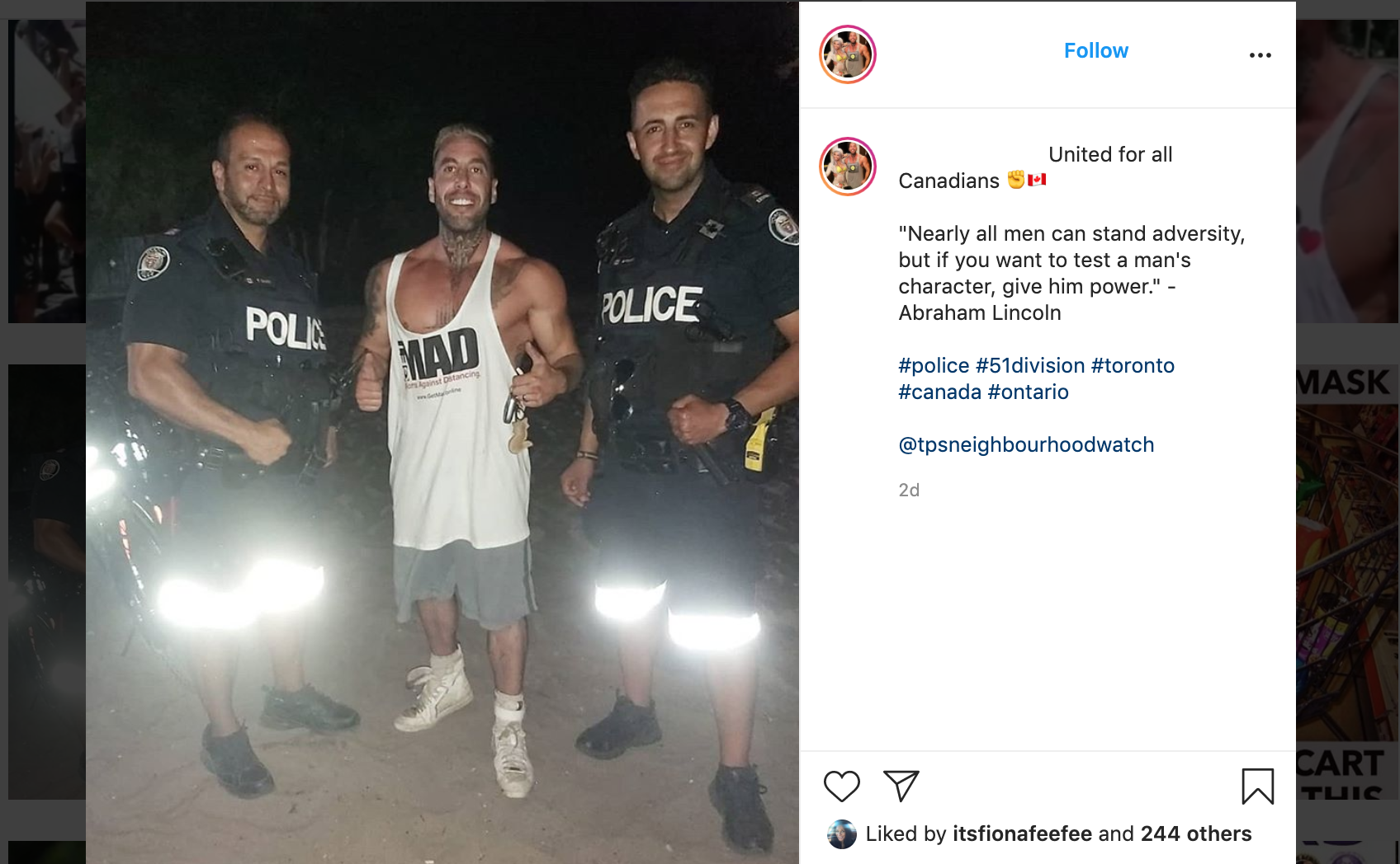 Toronto Cops Promoted One of