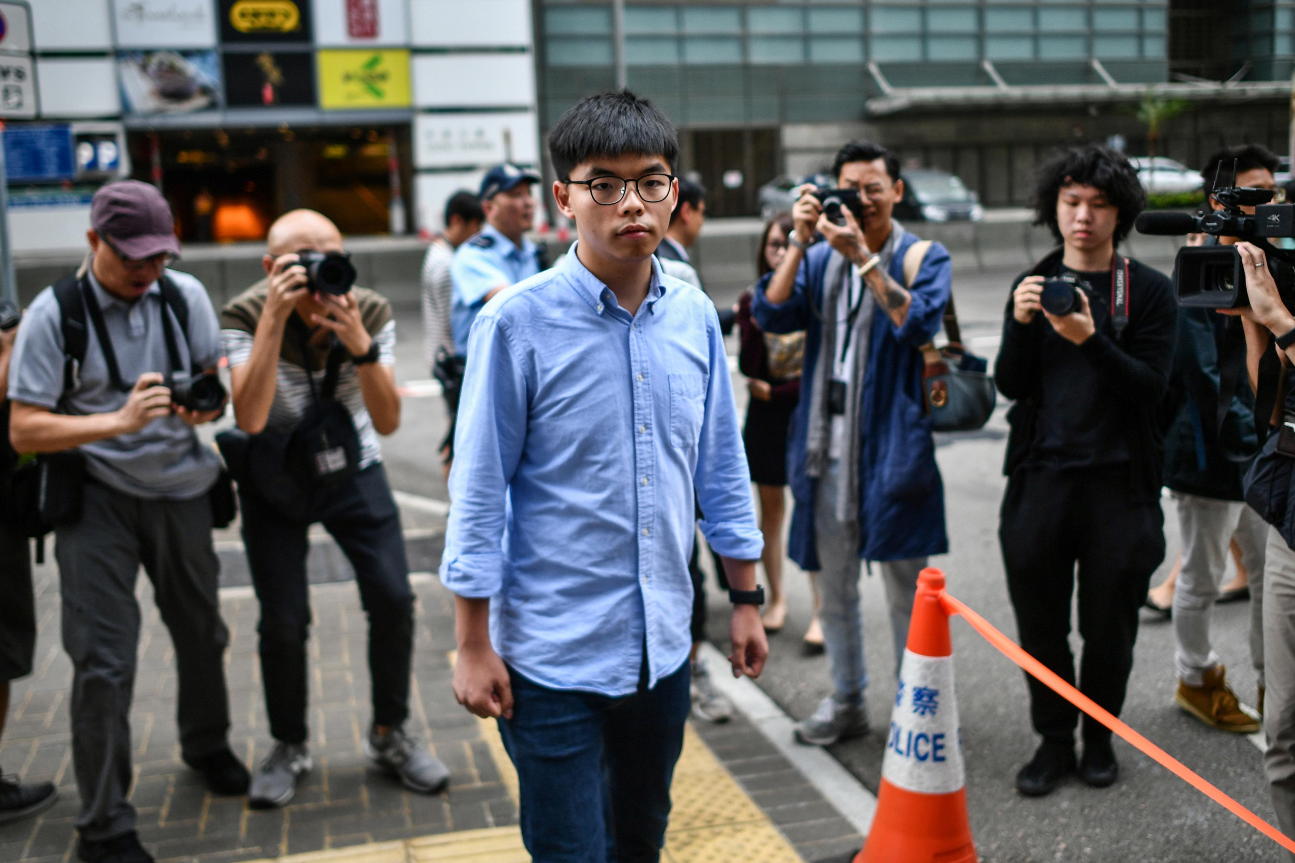 Hong Kong Democracy Activist Joshua Wong Arrested Again