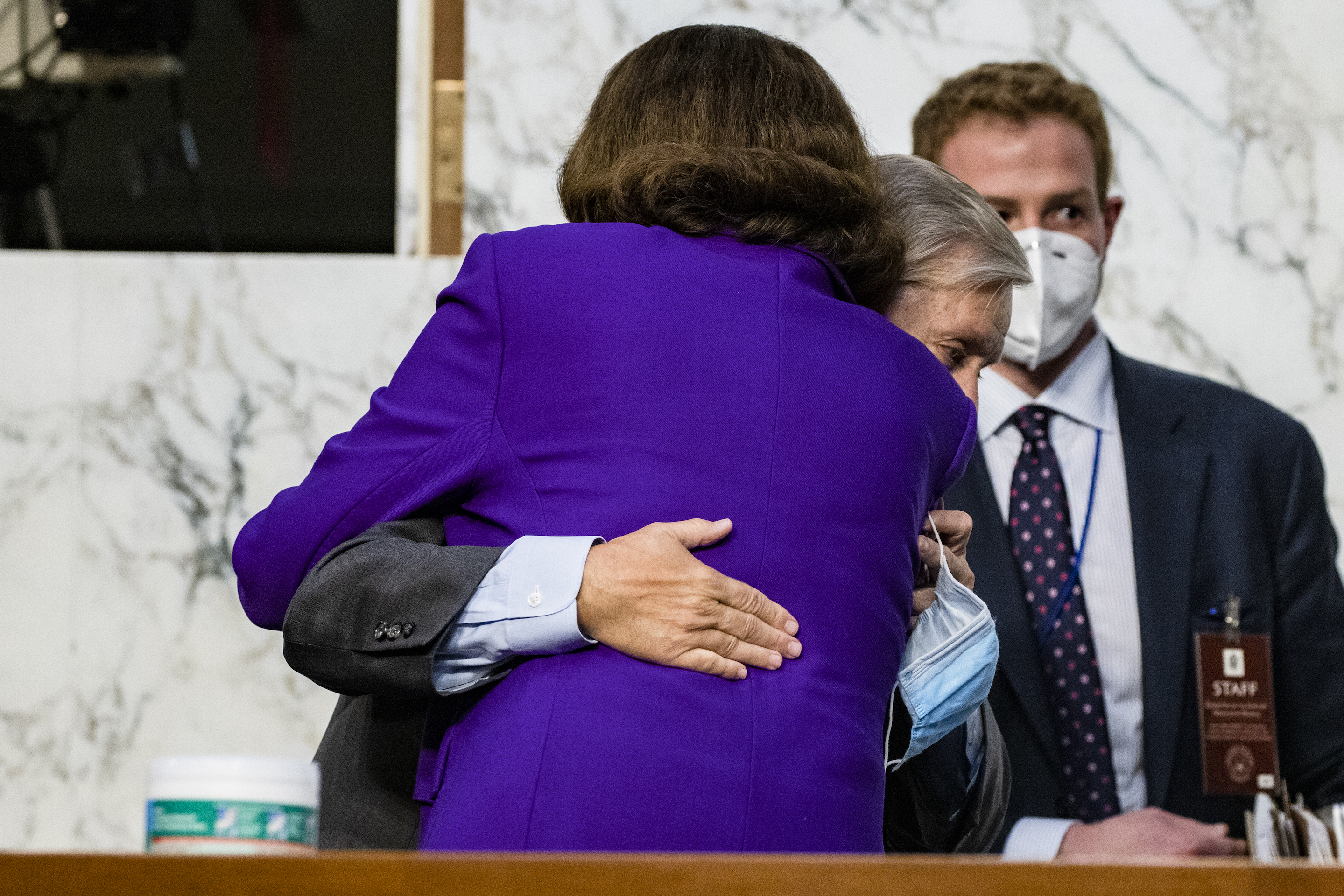 , Lindsey Graham Getting a Hug at Amy Coney Barrett's Hearing Just Put Democrats Over the Edge, Saubio Making Wealth