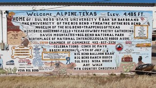Alpine, Texas sign