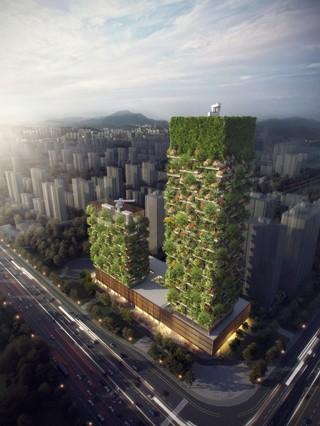 Nanjing Vertical Forest illustration