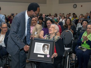Katherine Johnson dedication ceremony