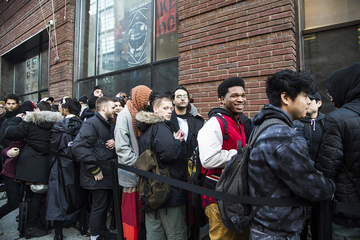 Line for THE PURGE Photo by Megan Mack. Courtesy of Red Bull Arts New York.