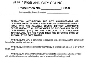 Oakland City Council Resolution