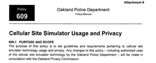 Cell Site Simulator Privacy document