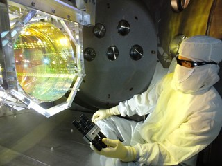 One of the mirrors used in the LIGO Livingston Observatory.