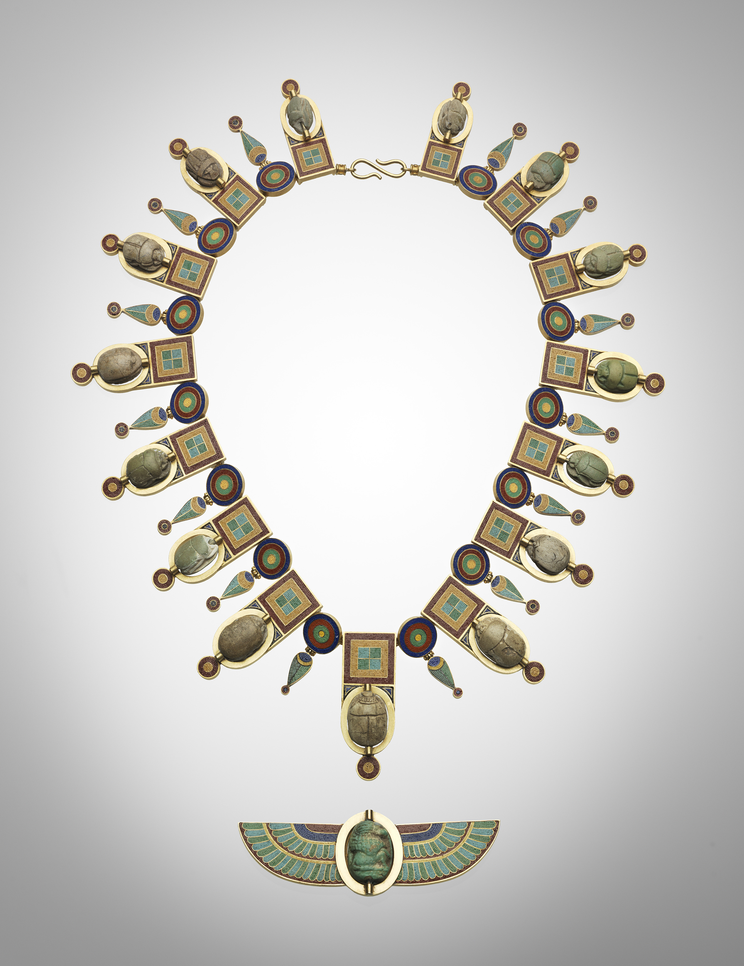 cusson gold browse necklace long ingrid brooch item