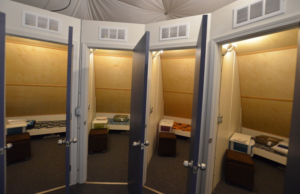 HI-SEAS habitat rooms.