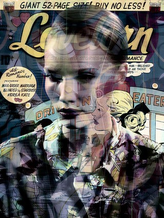 Comic Books Mingle with Old Hollywood Glamor in Pop Overlays