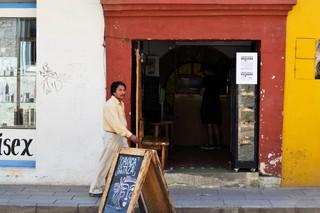 L'entrée de Oaxaca En Una Taza. Toutes les photos sont de l'auteur.