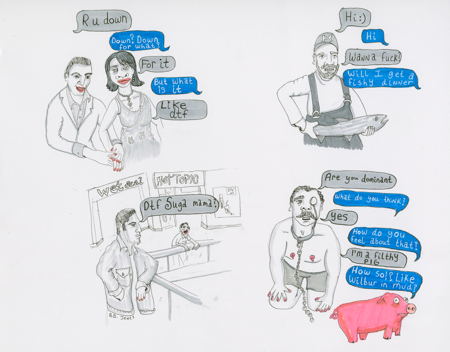 The Artist Turning Bad Tinder Matches Into Great Drawings