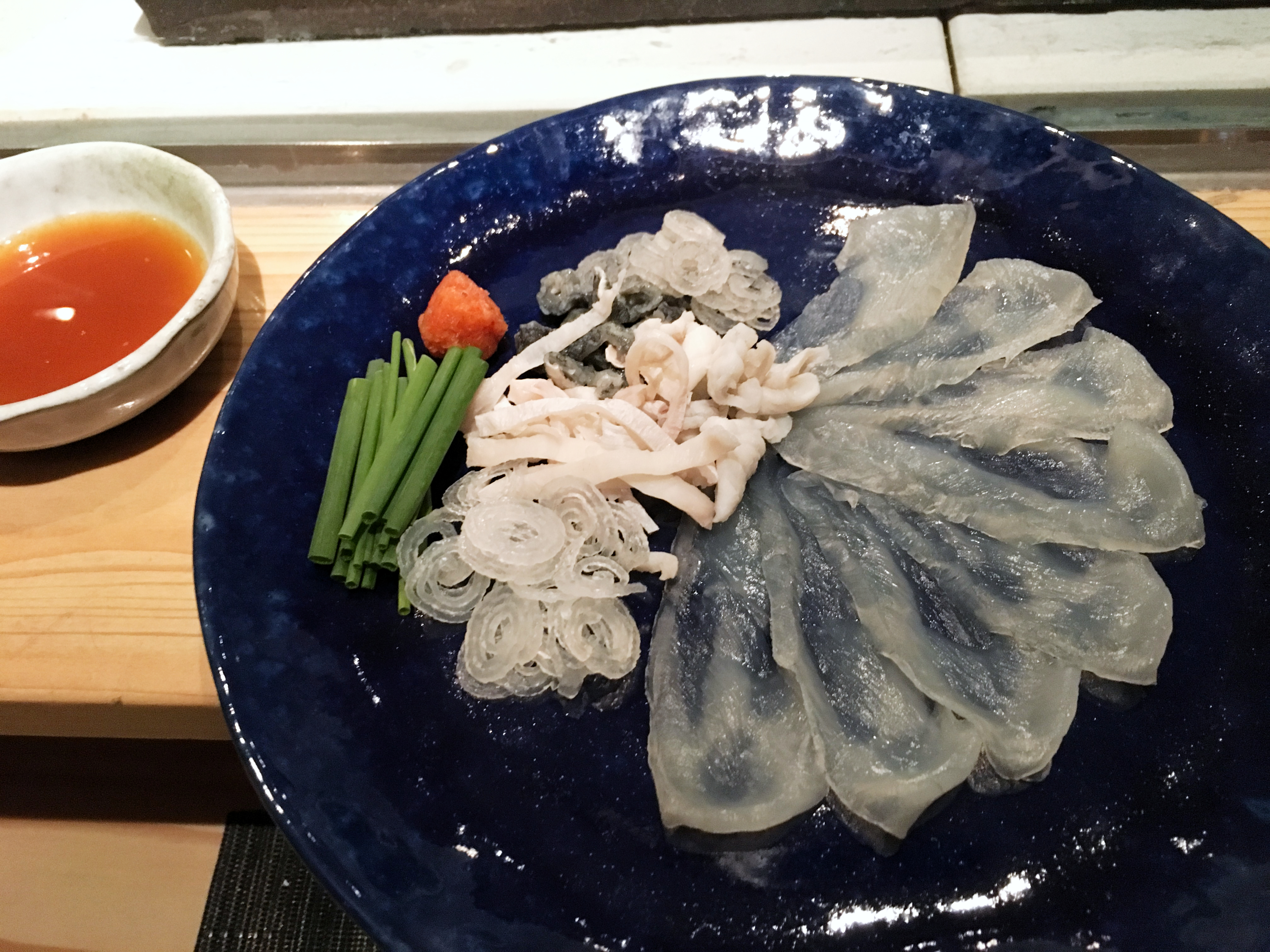 How to Eat Fugu Sashimi