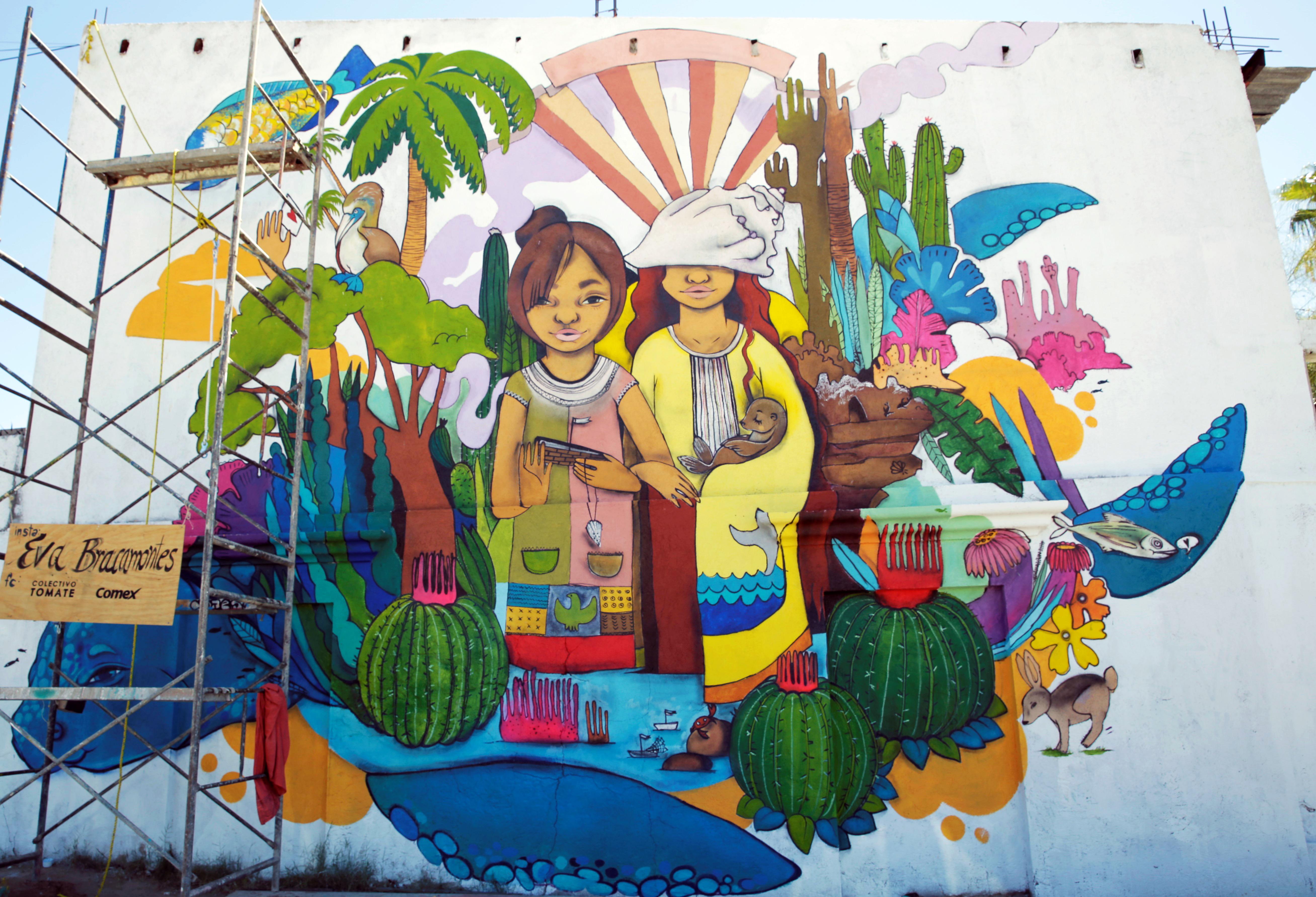 Un colectivo hizo 30 murales basados en la comunidad local for Arte mural en mexico