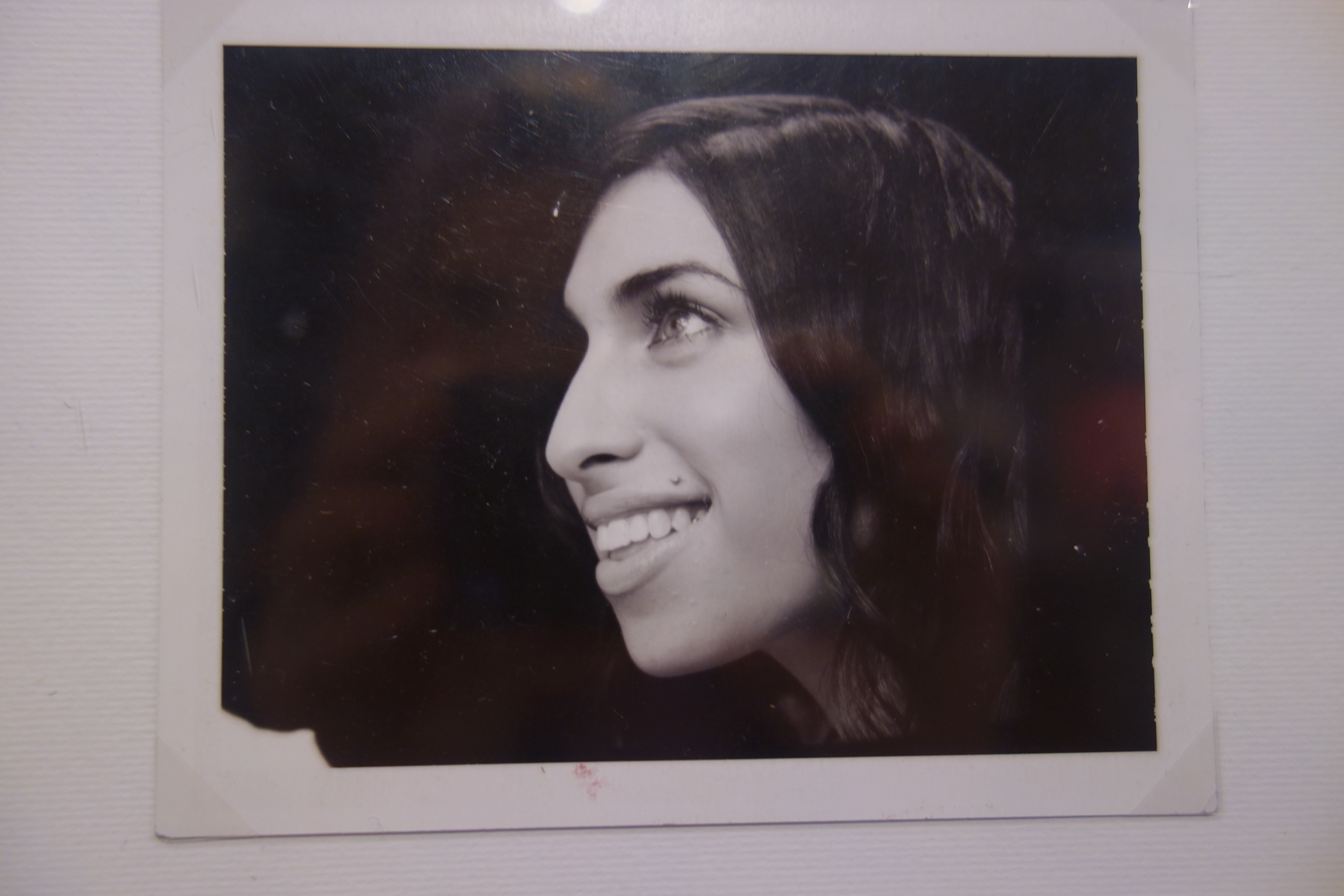 A photo of Amy Winehouse from the exhibition