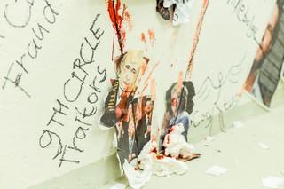 Detail van 'Het donkere woud', installatie van Marc van Dijk en Maurice van Turnhout