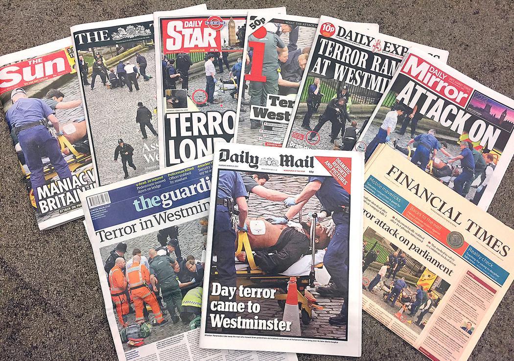 Portadas del día tras el atentado de Londres