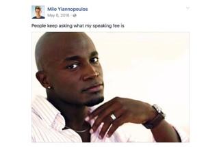 Milo Yiannopoulos Facebook post sceenshot