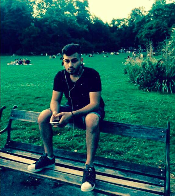 Der getötete Mustafa H. in einem Park in Wien