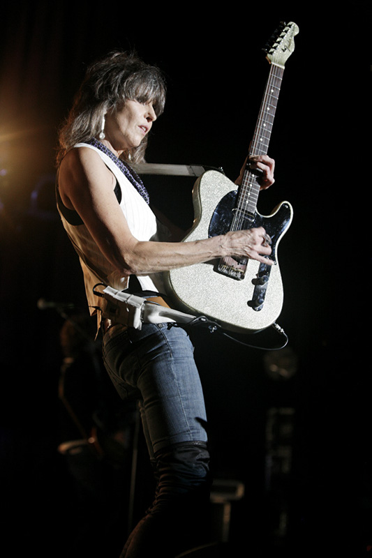 Chrissie Hynde playing in 2013 (Photo by Harmony Gerber)