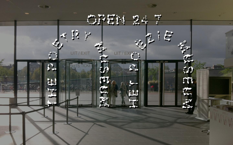 Een eerder (niet gebruikt) ontwerp voor het Poëzie Museum