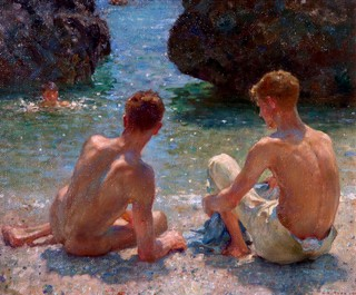 Henry Scott Tuke - 'The Critics' (1927)