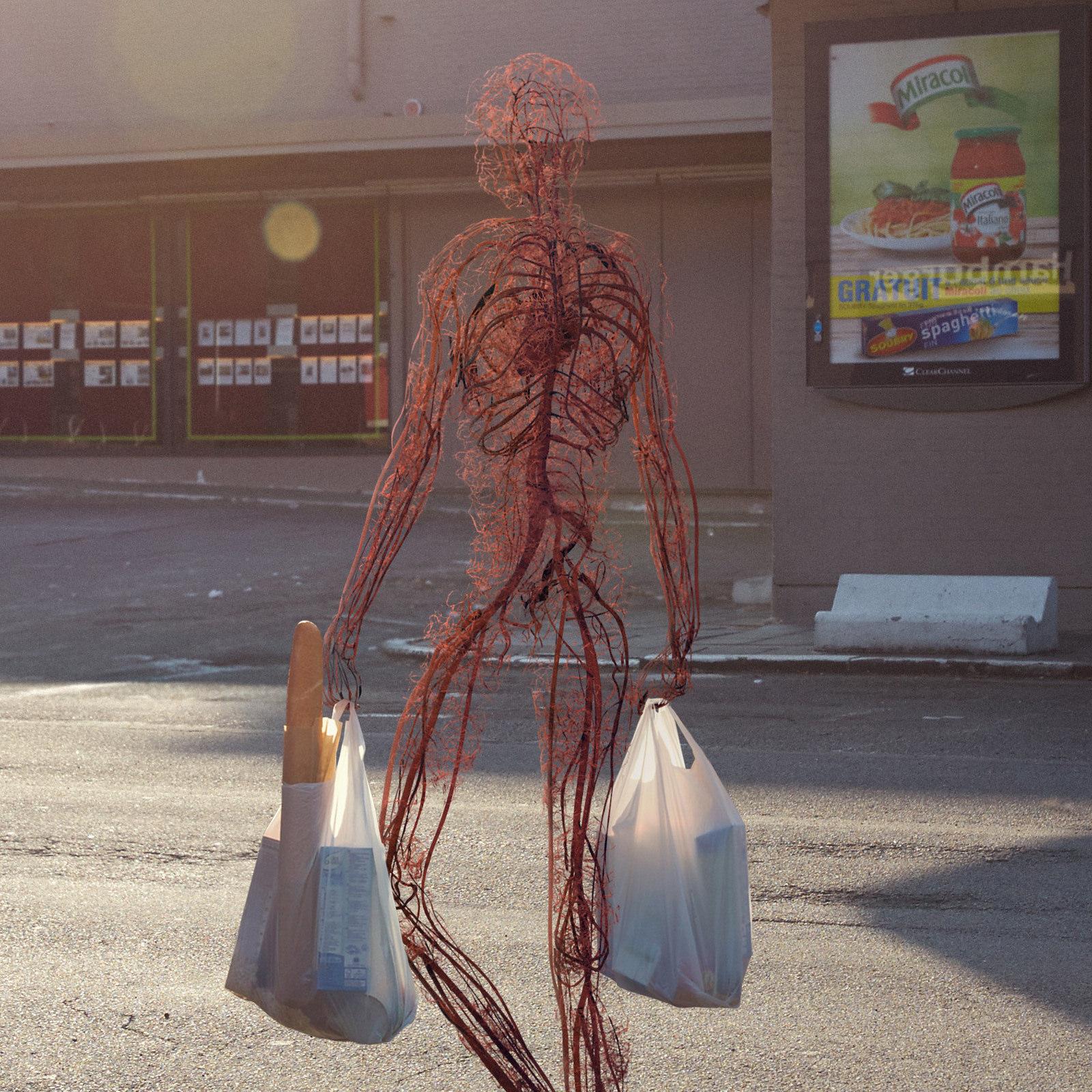Así se vería la gente caminando sin cabello, piel y huesos - Creators