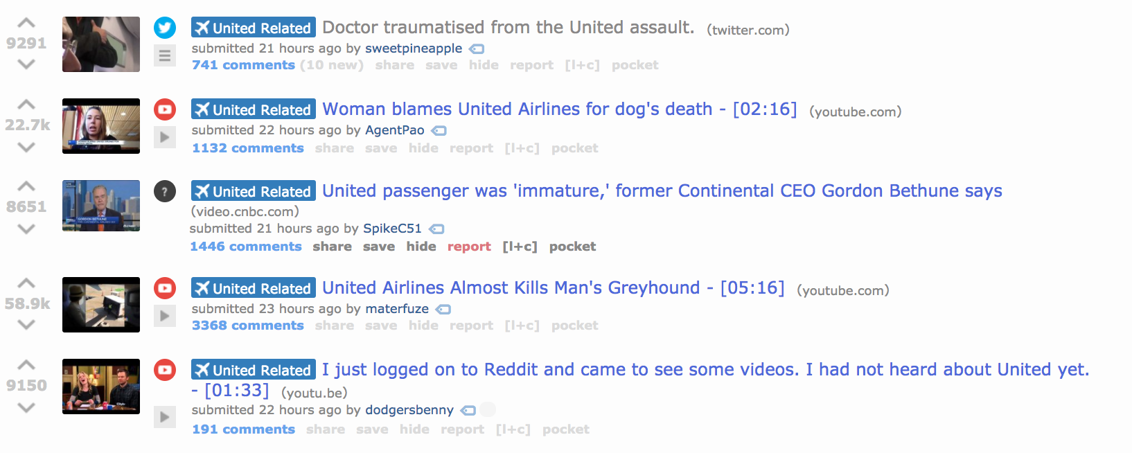 Reddit Revolts After Moderators Delete United Airlines Video - VICE