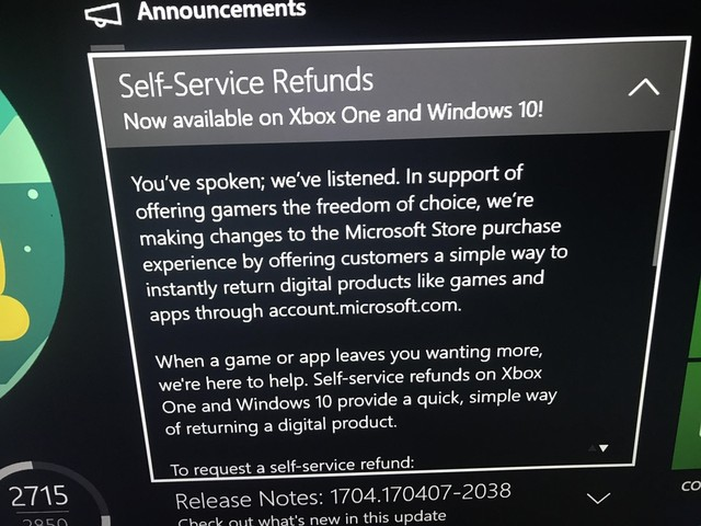 It Looks Like Refunds Are Coming to Xbox One [Updated] - VICE