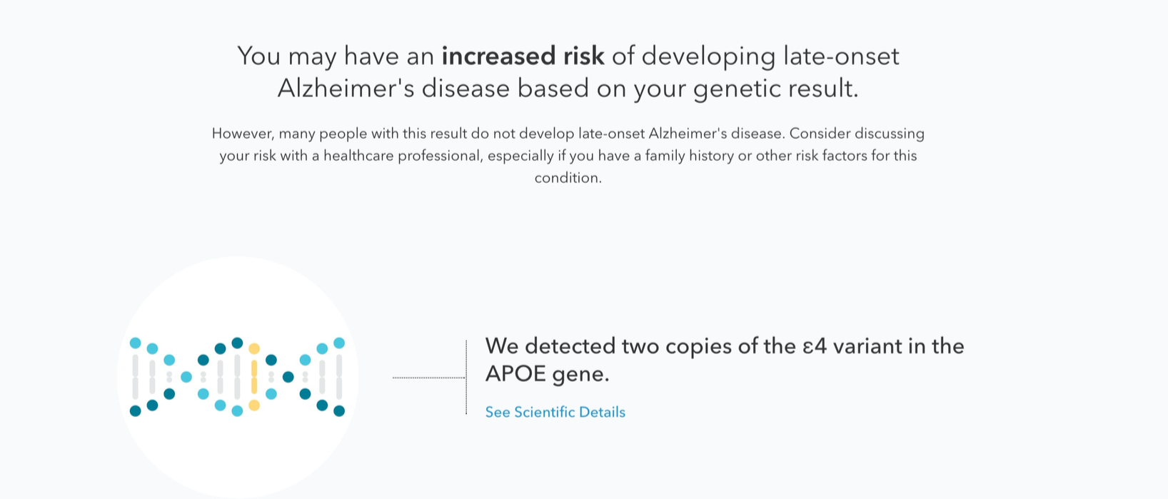 Here's What It Looks Like When a Gene Test Says You're Prone