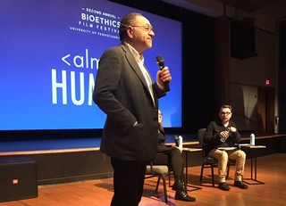 Jonathan Moreno presents at the 2nd annual Penn Biotethics Film Festival 2017.