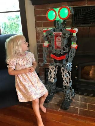 Isla and the Meccanoid robot