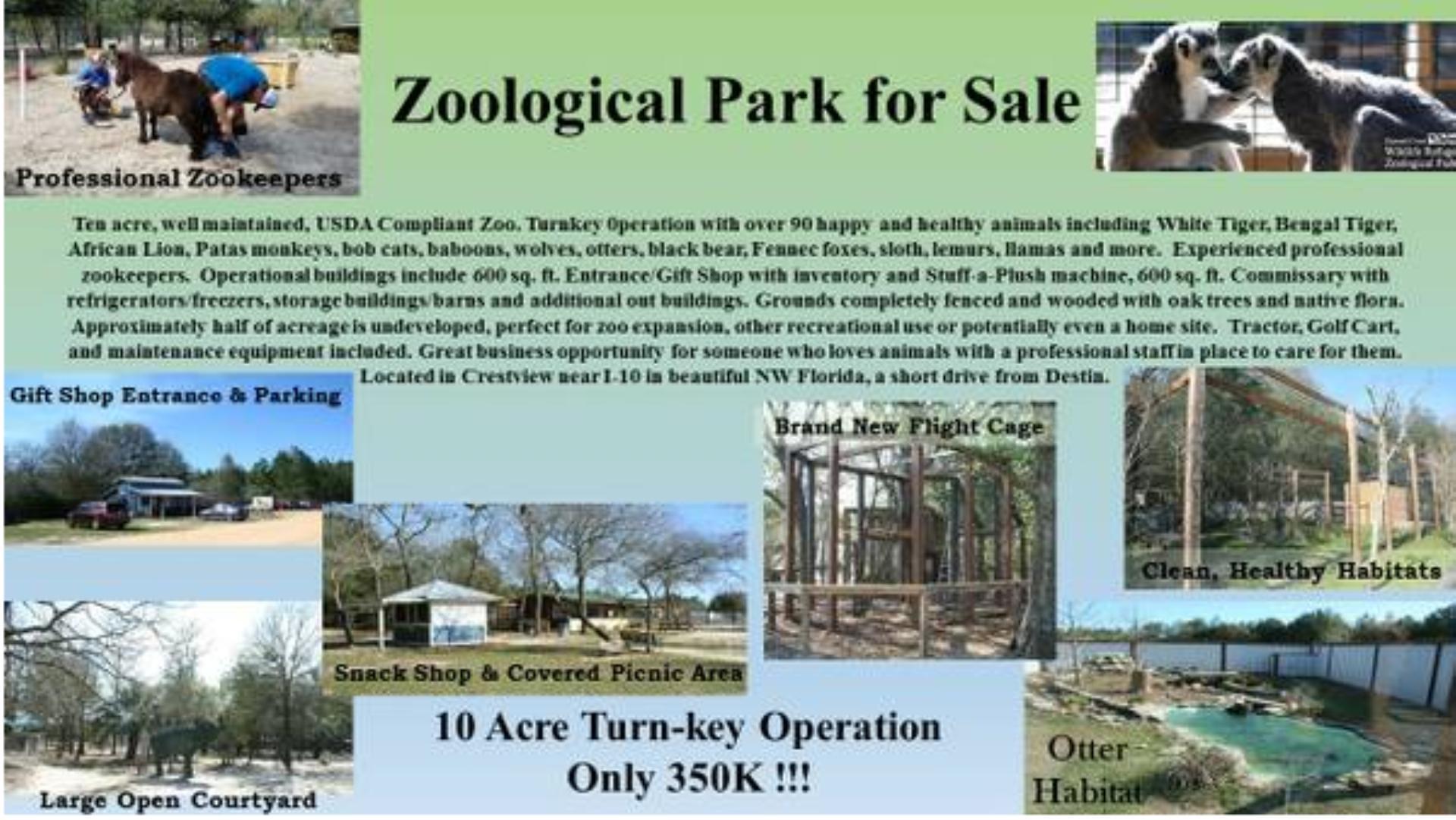 Κάποιος Προσπαθεί να Πουλήσει Έναν Ζωολογικό Κήπο σε Αγγελία