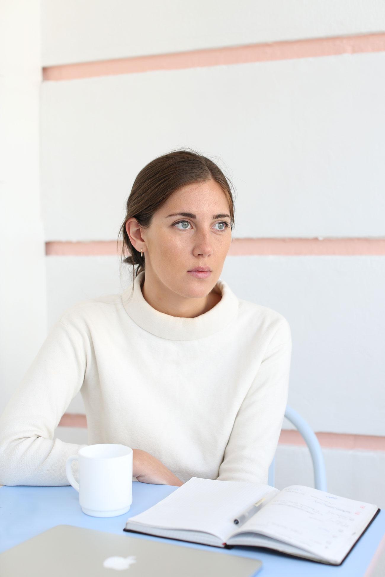 Olivia Sudjic portrait at Cafe Miami by Imogen Freeland
