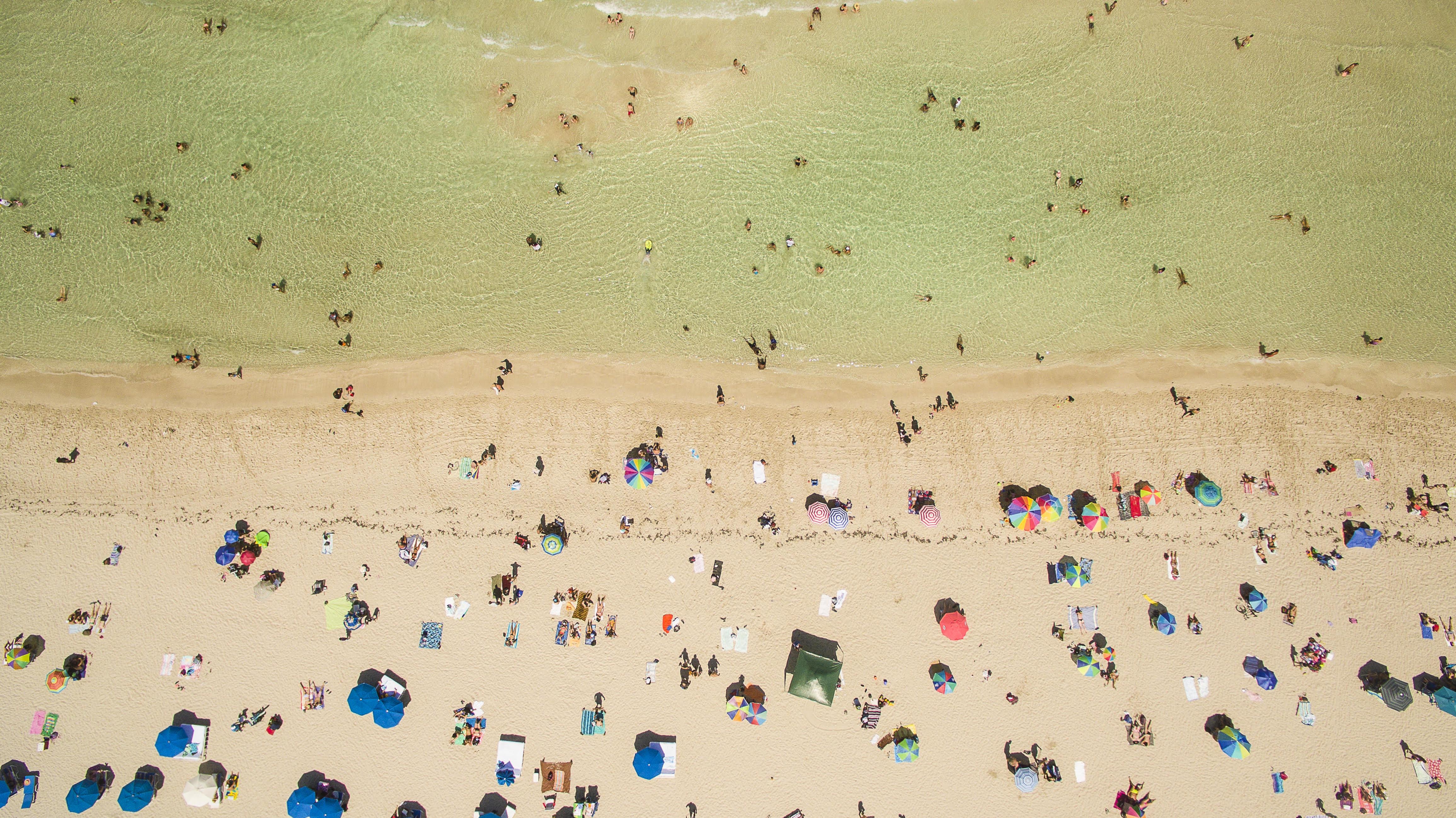 Take a Deep Breath and Enjoy Peaceful Overhead Beach Photography