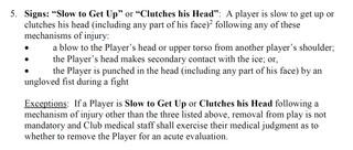 NHL Concussion Protocol