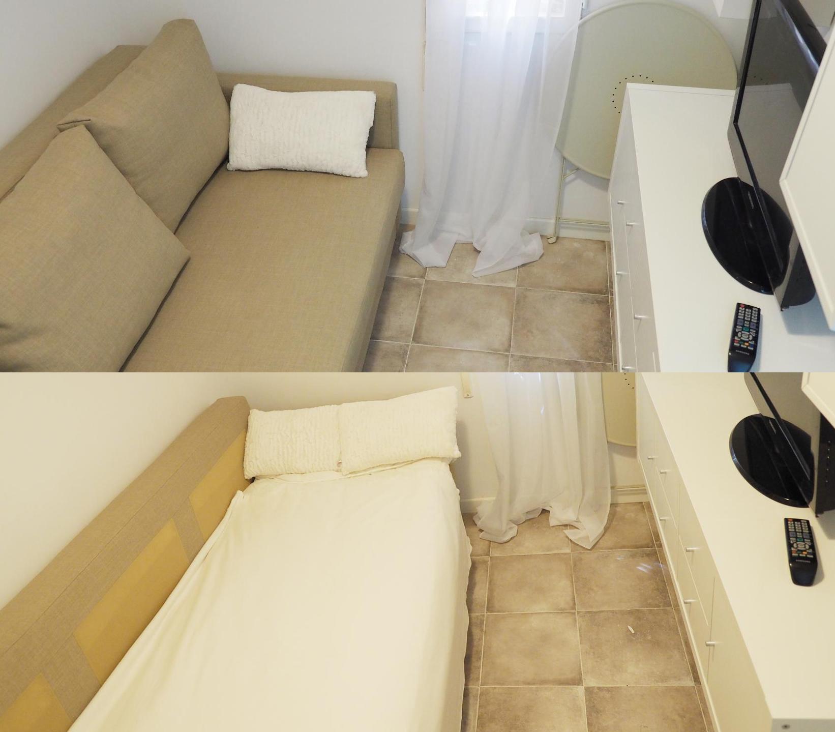 El peor piso en alquiler de España: 750 euros al mes para vivir en unas escaleras 1495534098561-Montaje-Salon