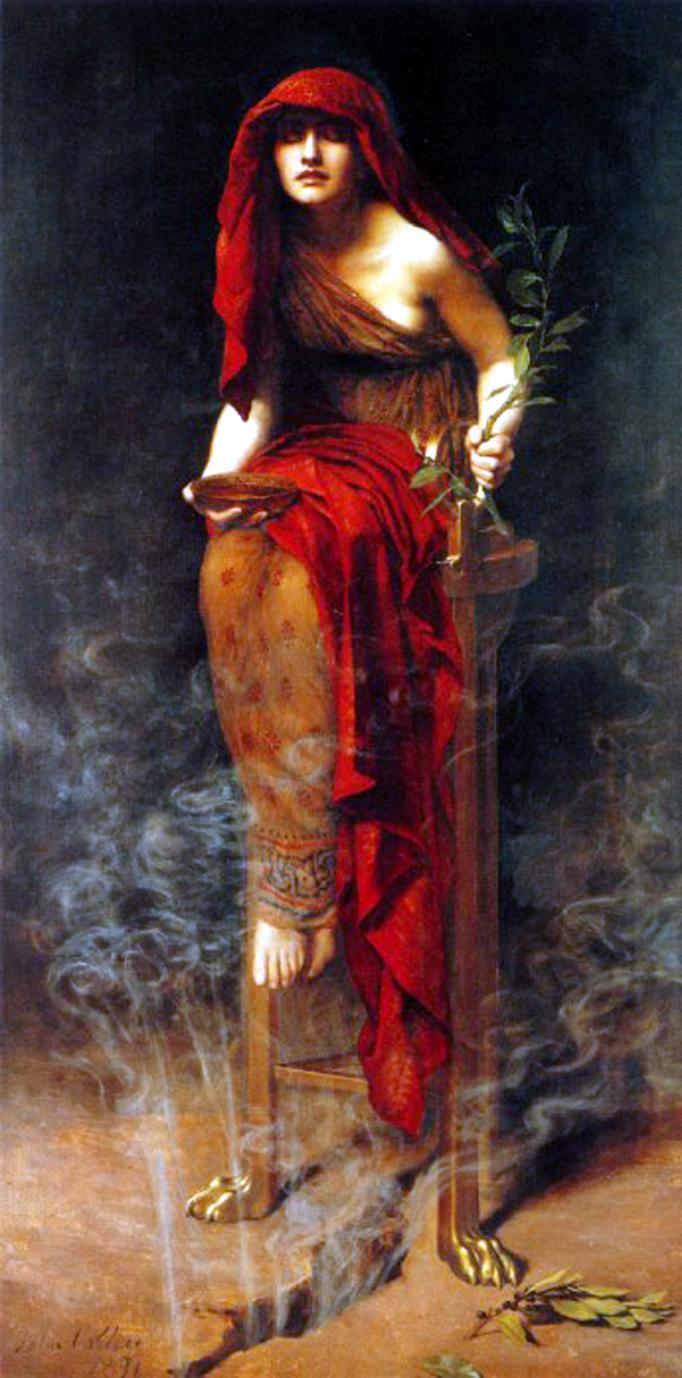 El Oráculo de Delfos. Imagen vía Wikipedia Commons.