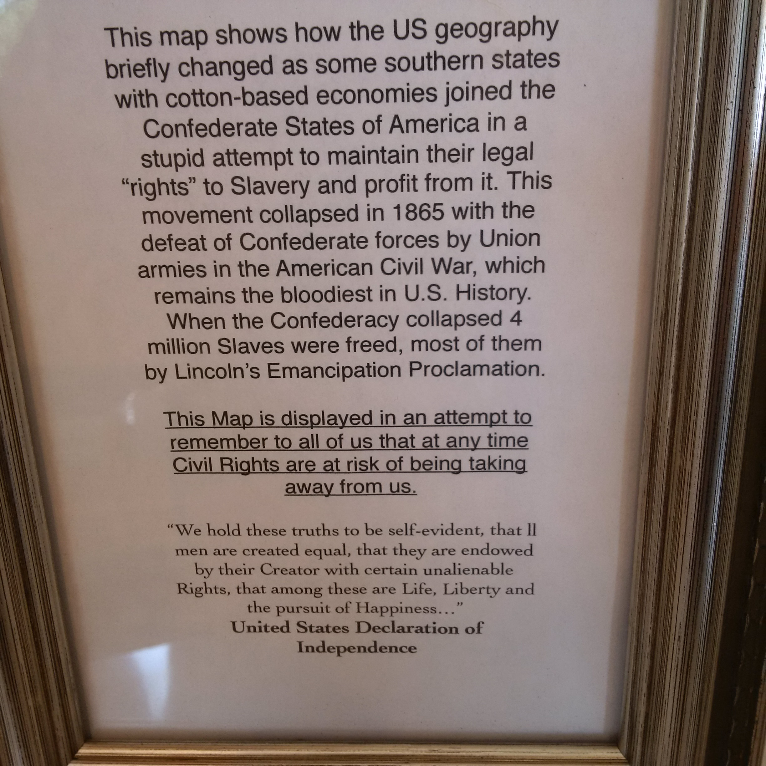 Cafe Removes Peeping Tom Bathroom Sign After Complaints From - The confederate map of the us