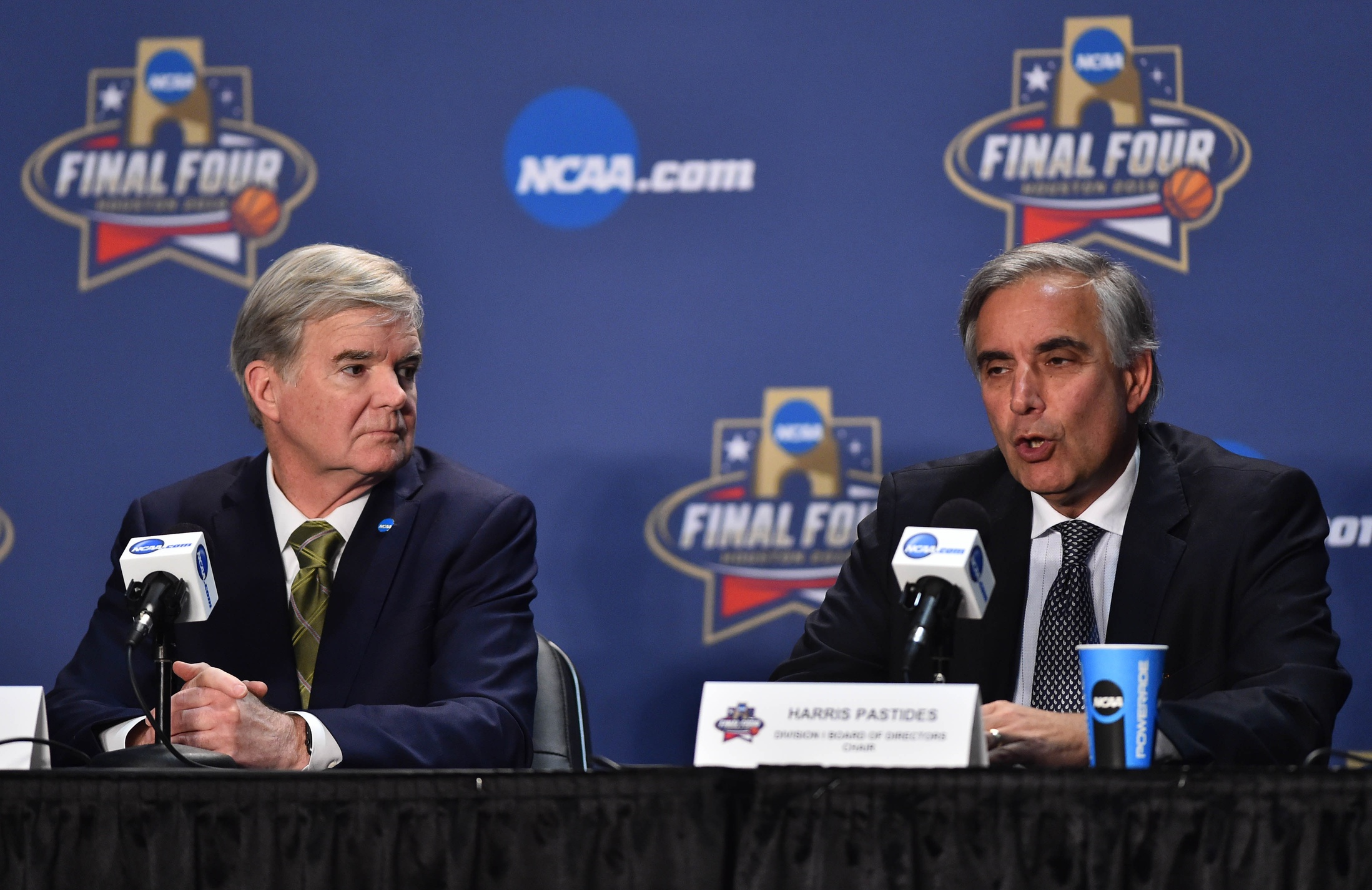 Mark Emmert and Harris Pastides