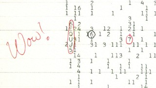 The Wow! signal. Its name inspired by astronomer Jerry R. Ehman, who discovered the anomaly in August 1977.