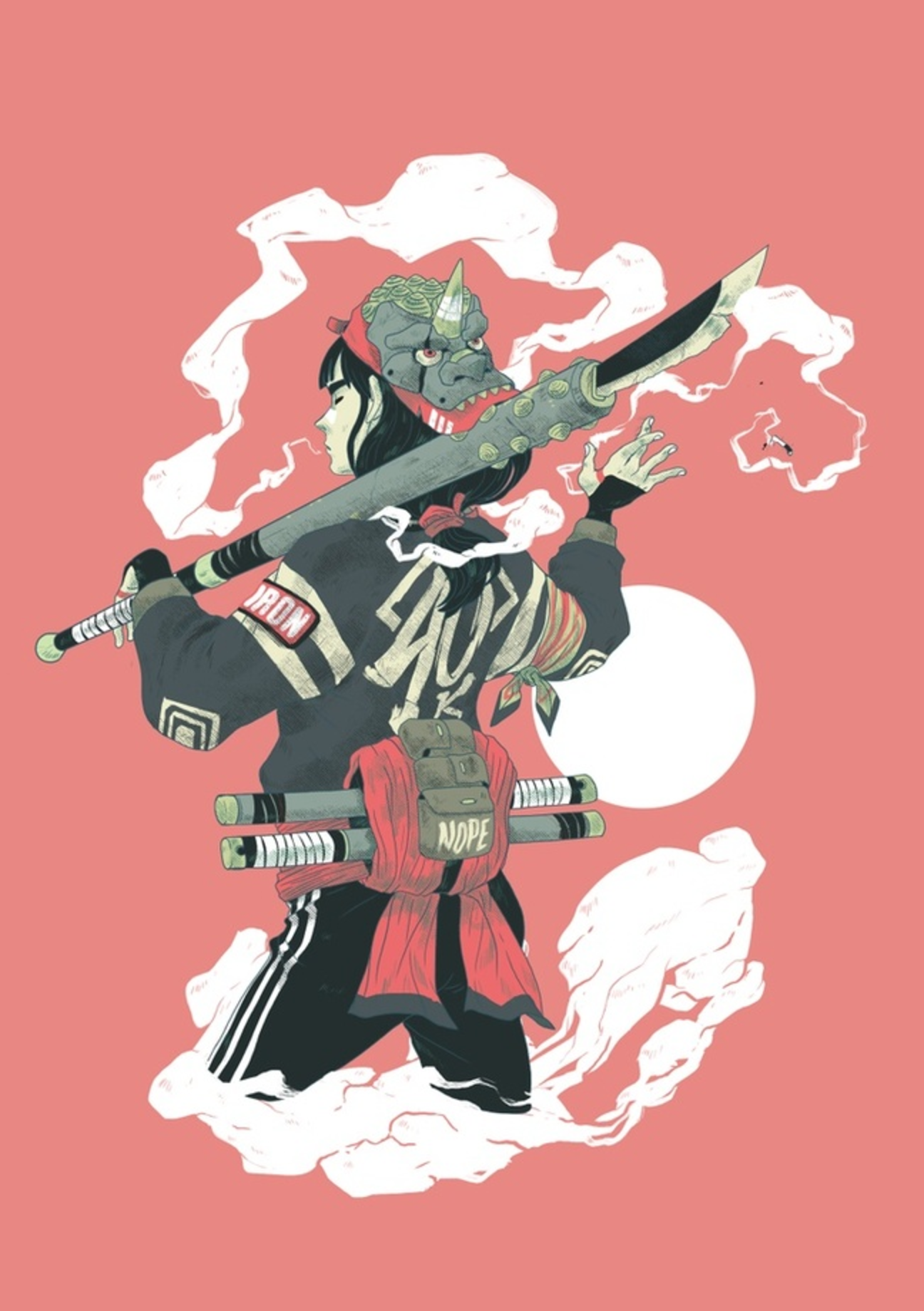 Character Design School Japan : The samurai lives on in these dazzling digital drawings