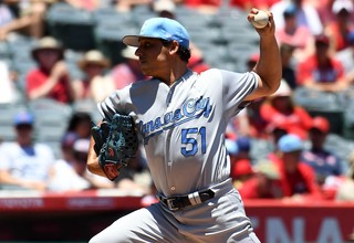 Vargas has benefitted from throwing three pitches from the same arm angle. Photo: Richard Mackson-USA TODAY Sports