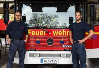 Feuerwehrkollegen der Berufsfeuerwehr Gelsenkirchen. Foto: Matthias Tiemann