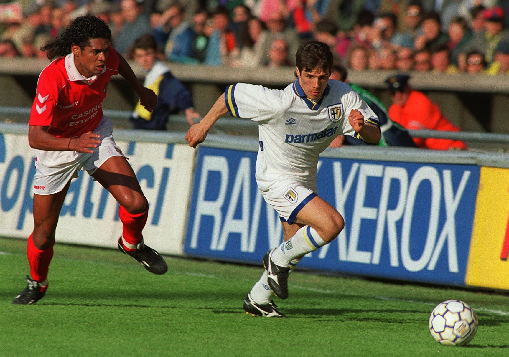 0384478f9eb Zola playing against Benfica in the semis of the Cup Winners  Cup    PA  Images