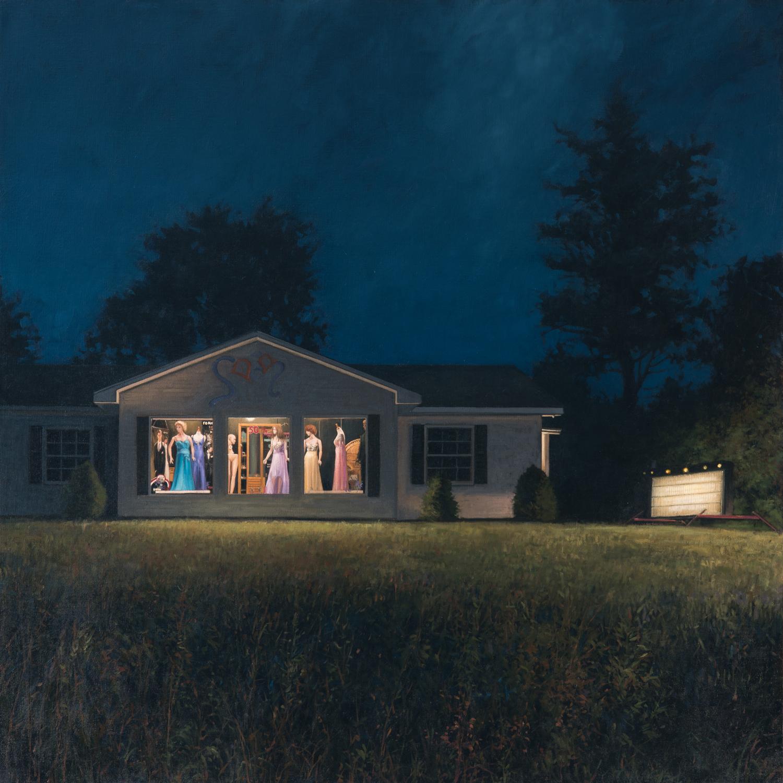 Linden frederick s paintings capture somber sleepy for Fredrick house