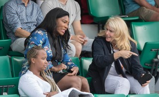 Serena Williams in French Open stands