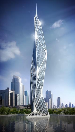 A conceptual model of Cazza's Dubai skyscraper made via 3D-printed materials. Image: Cazza