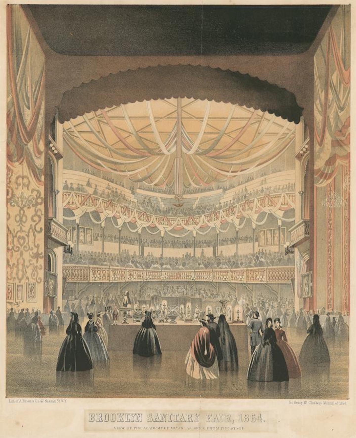 Illustration of the Brooklyn and Long Island Sanitary Fair, 1864. Images courtesy of BAM Hamm Archives