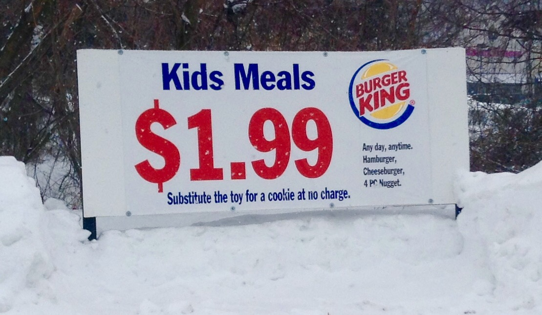 A sign outside a Burger King location in 2015. Photo via Flickr user Mike  Mozart