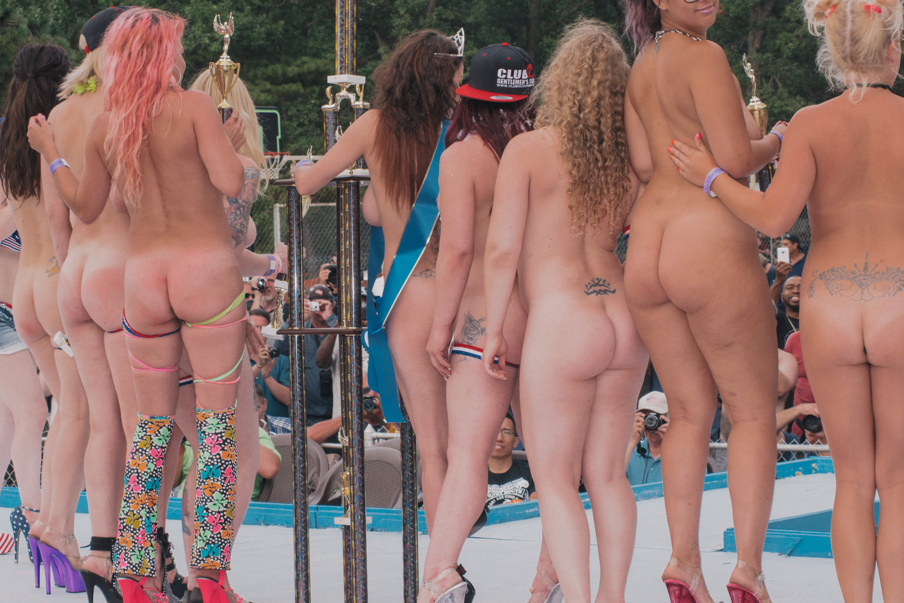 Nude resort pageant
